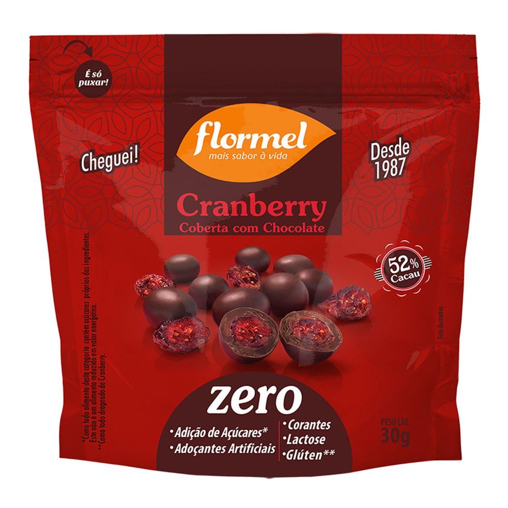 Cranberry coberta com chocolate