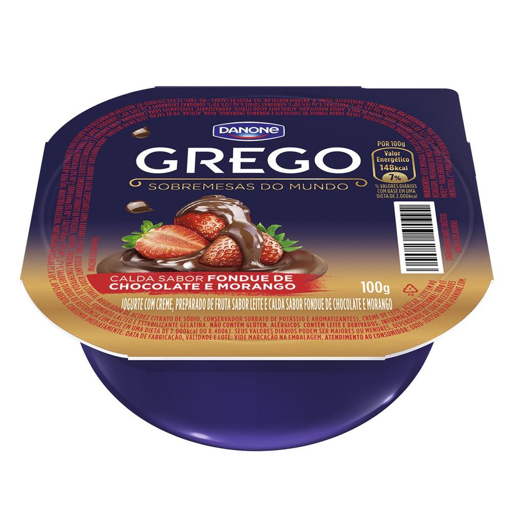 Iogurte grego fondue