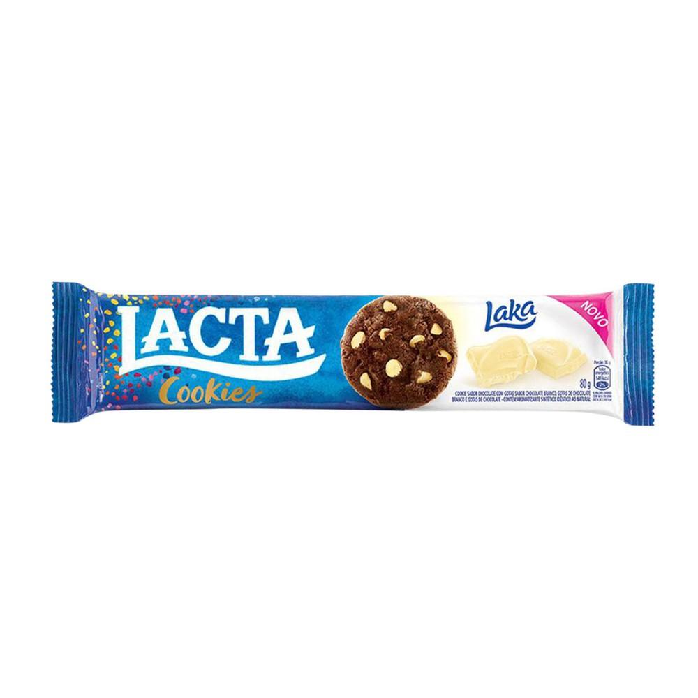 Biscoito doce cookie chocolate branco Laka