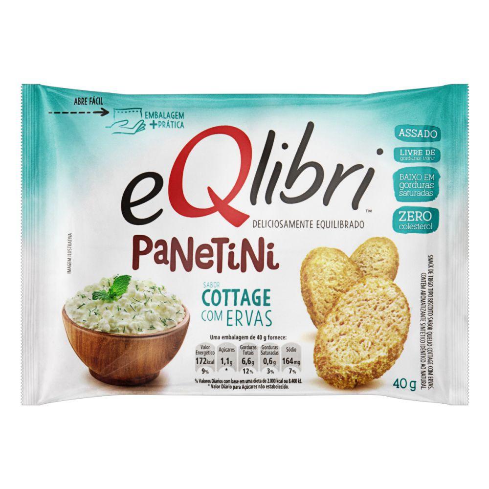 Snack de trigo Panetini sabor  cottage com ervas
