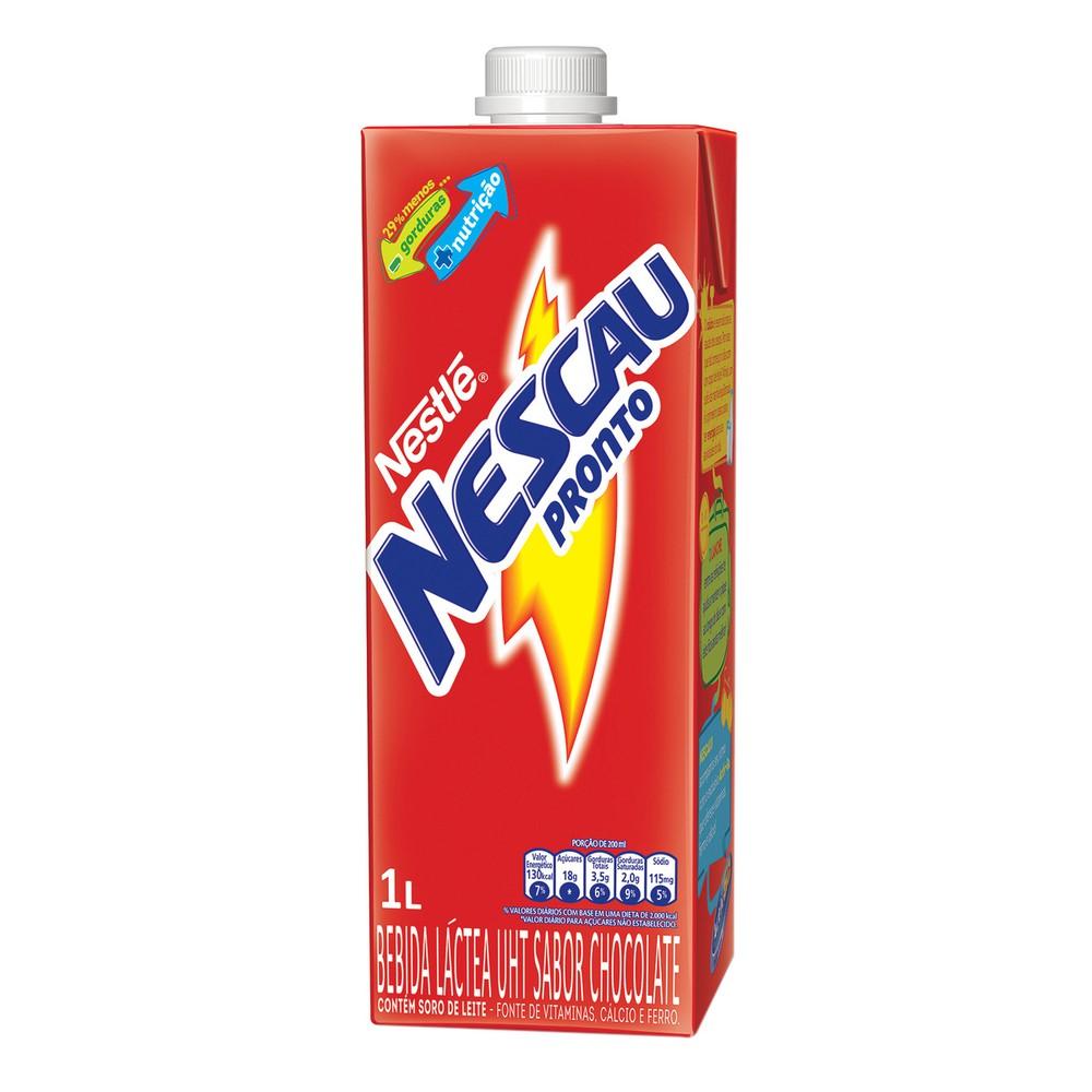 Bebida láctea sabor chocolate Nescau
