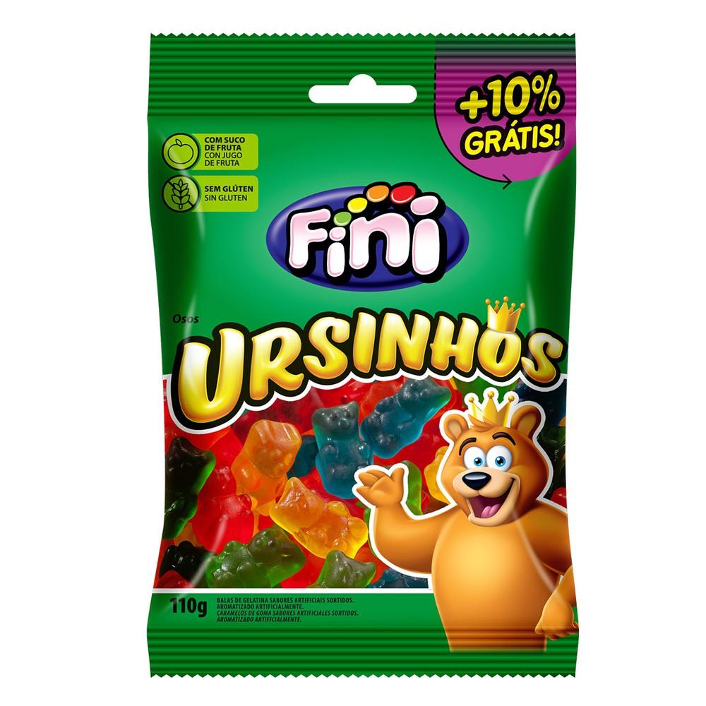 Bala de goma ursinhos sabor frutas
