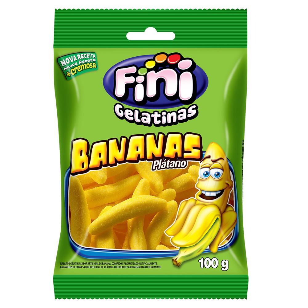 Bala de gelatina banana