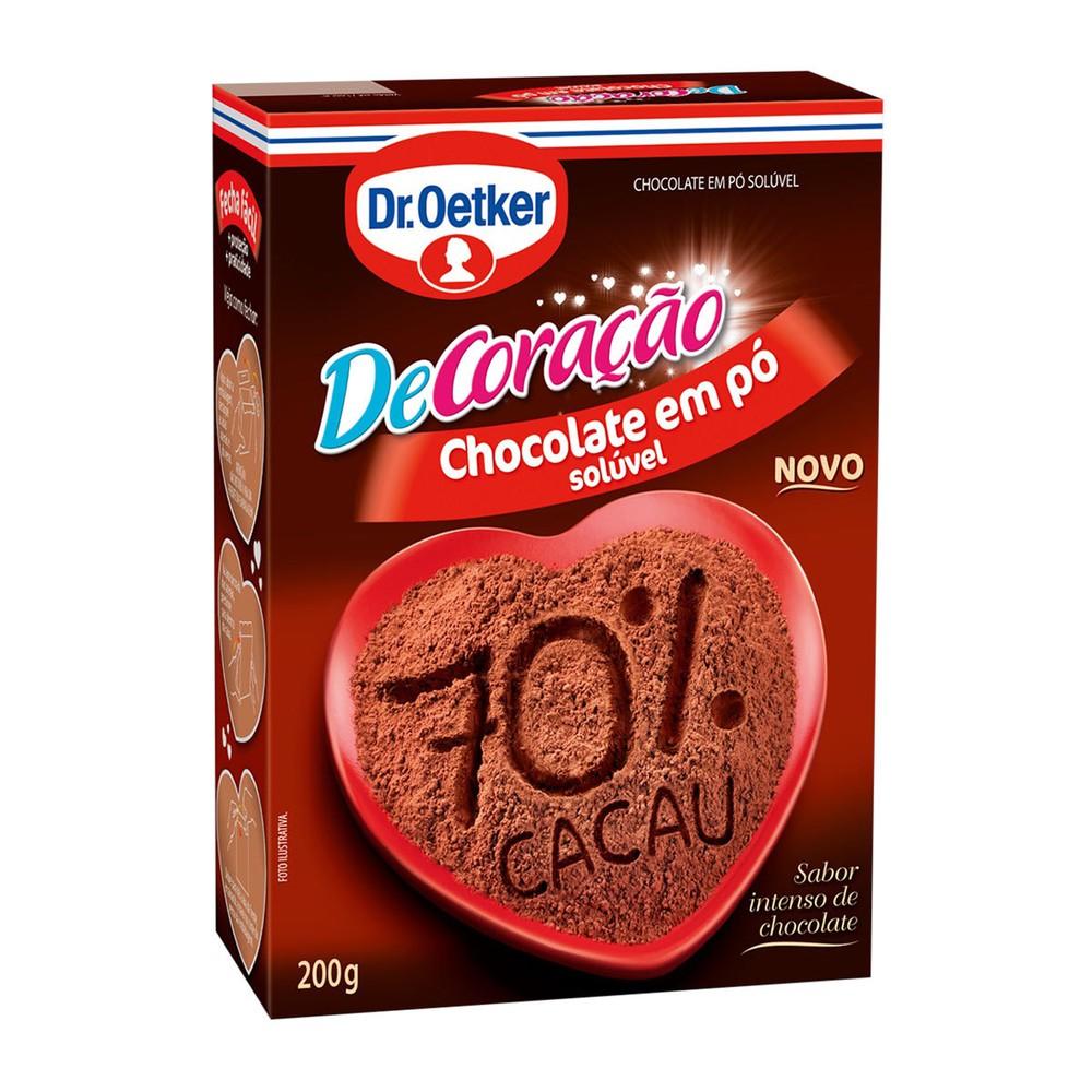 Achocolatado em Po Soluvel Dr. Oetker De Coracao 70% Cacau 200g