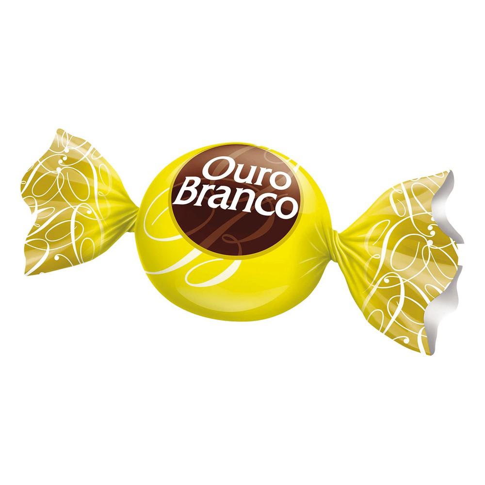 Bombom de chocolate branco