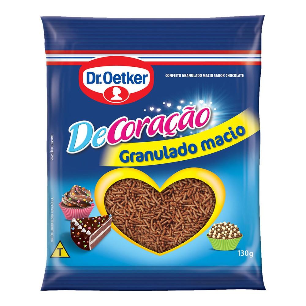 Granulado Chocolate Hidrogenado ao Leite Dr. Oetker De Coracao 130g
