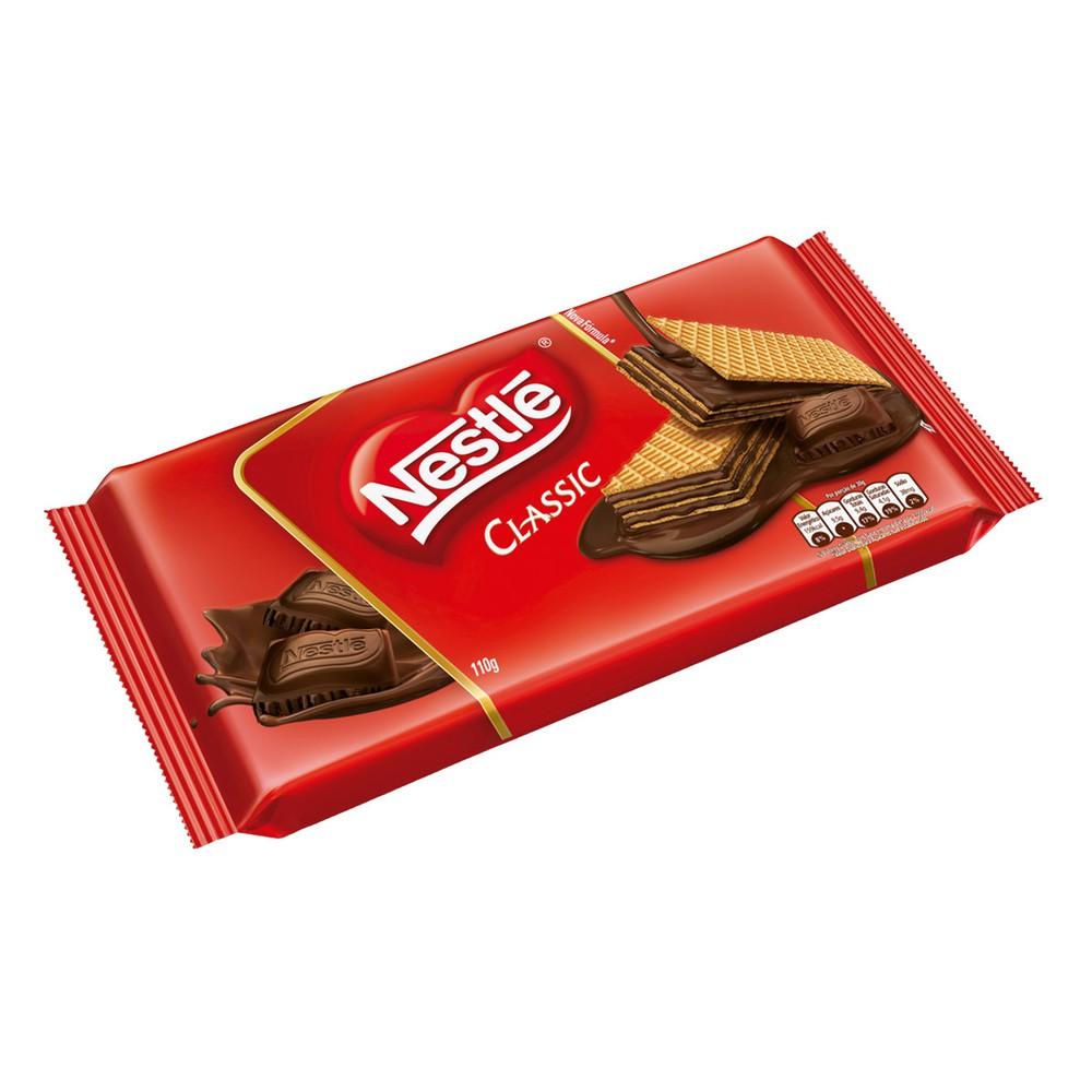 Biscoito wafer chocolate classic