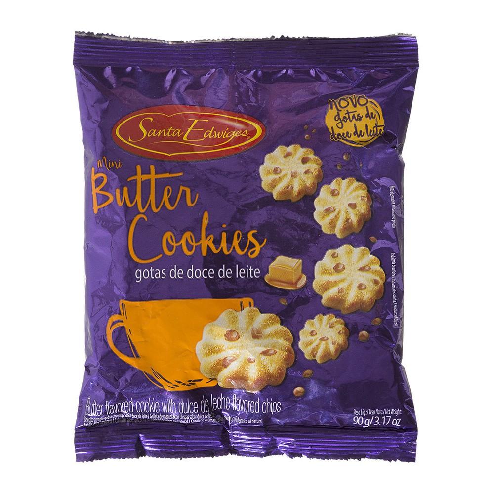 Cookie com Gotas de Doce de Leite Santa Edwiges 90g Pacote 90g