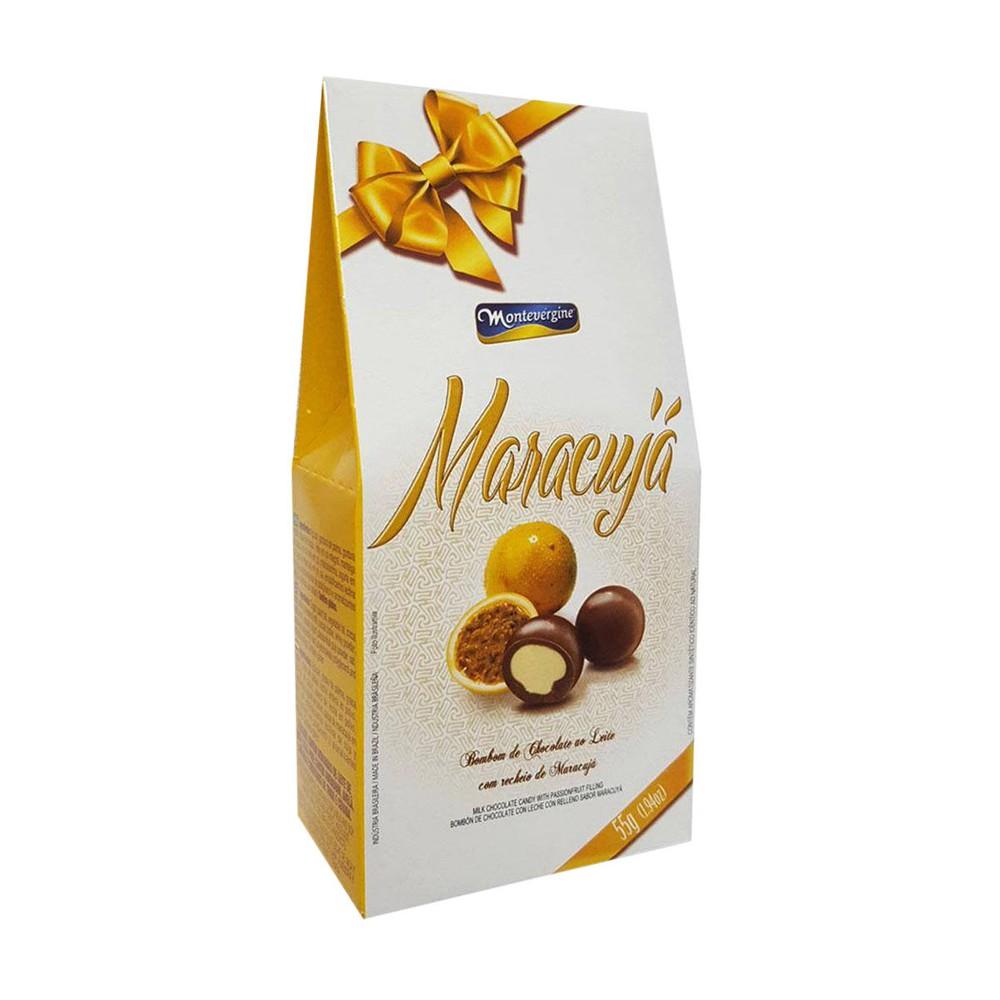 Bombom de chocolate ao leite com maracujá