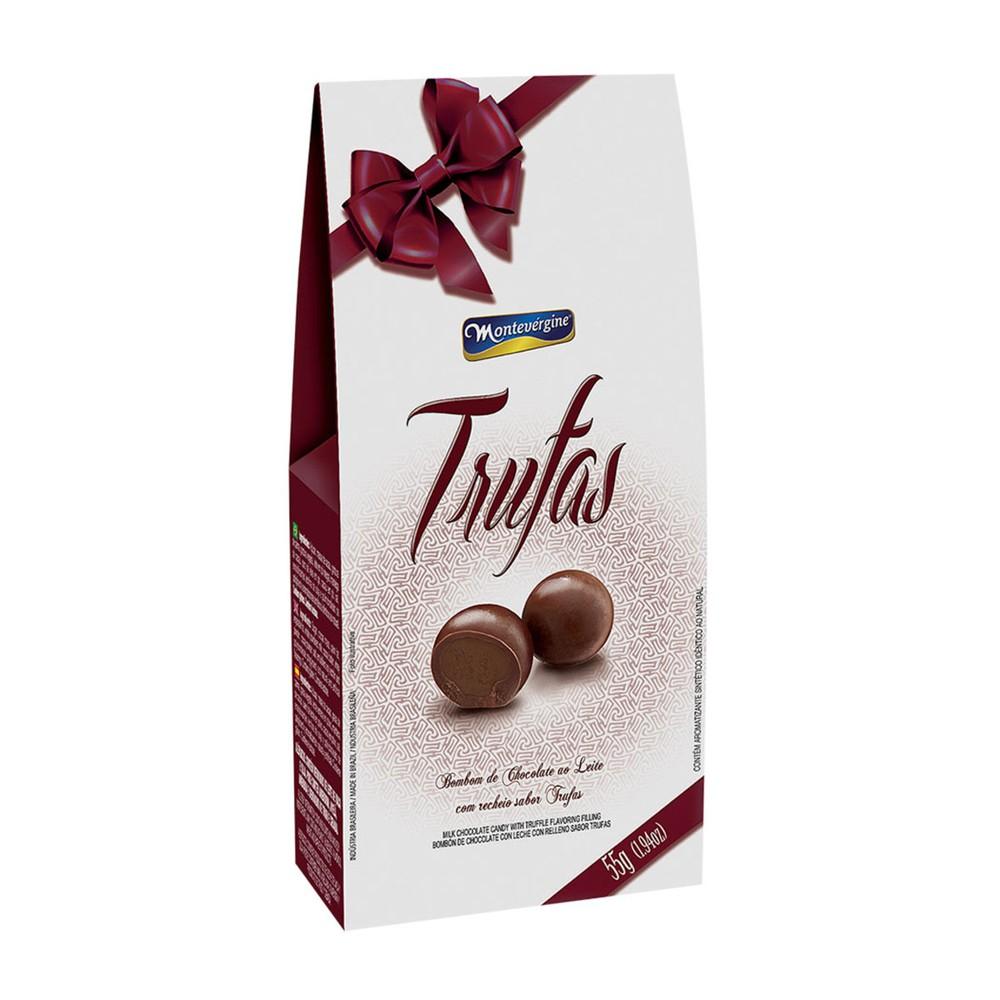 Caixa de Bombom de Chocolate ao Leite Sabor Trufas Montevergine 55g