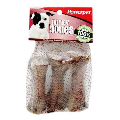 Carnaza para perro porky bones 3 pzas