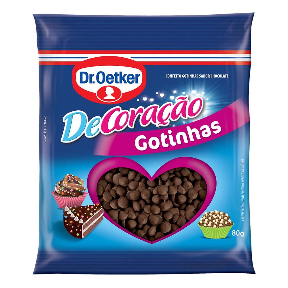 Gotas Chocolate ao Leite Dr. Oetker 80g