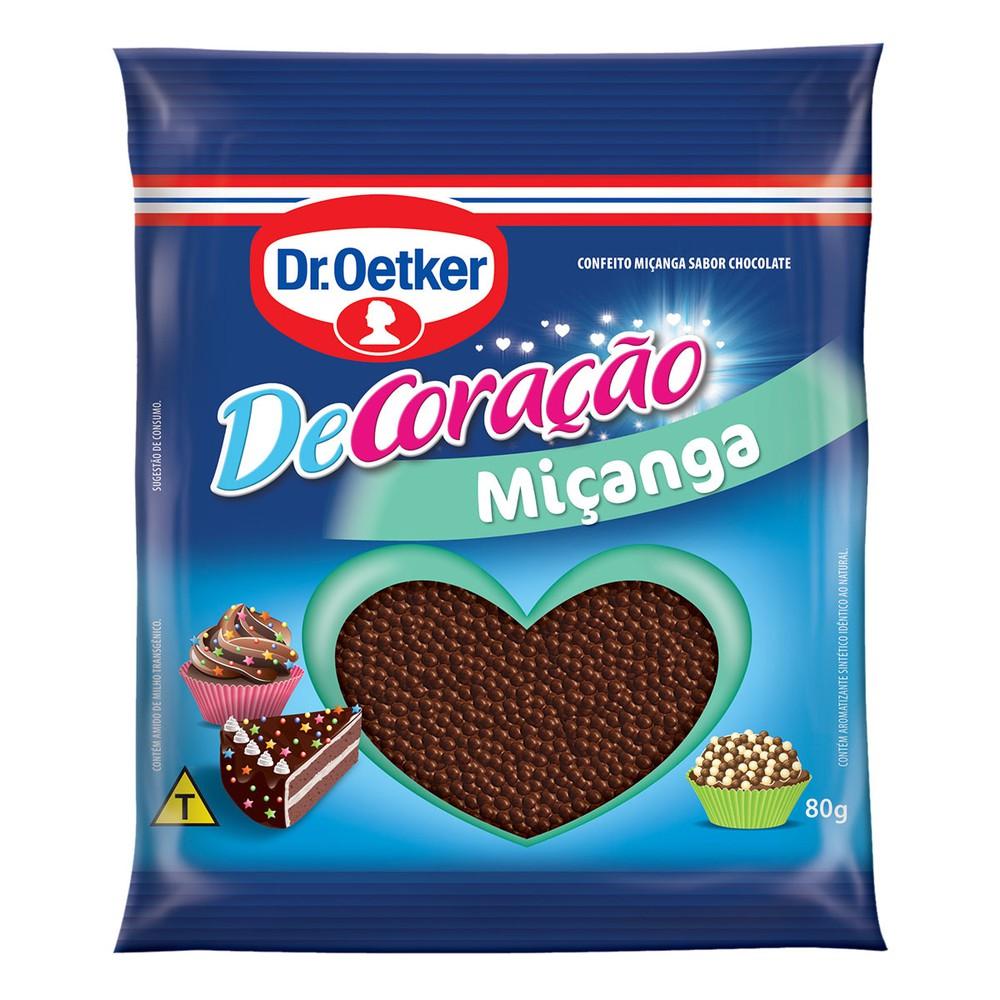 Confeito Marrom de Chocolate Dr. Oetker Micanga DeCoracao 80g