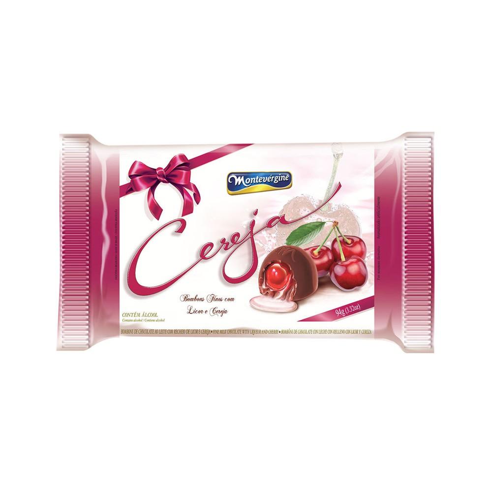 Bombom de Chocolate com Recheio de Licor e Cereja Montevergine 94g