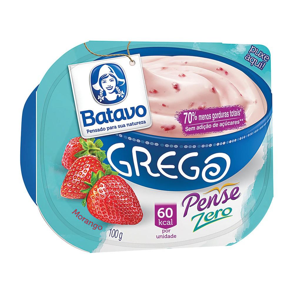 Iogurte grego desnatado de morango