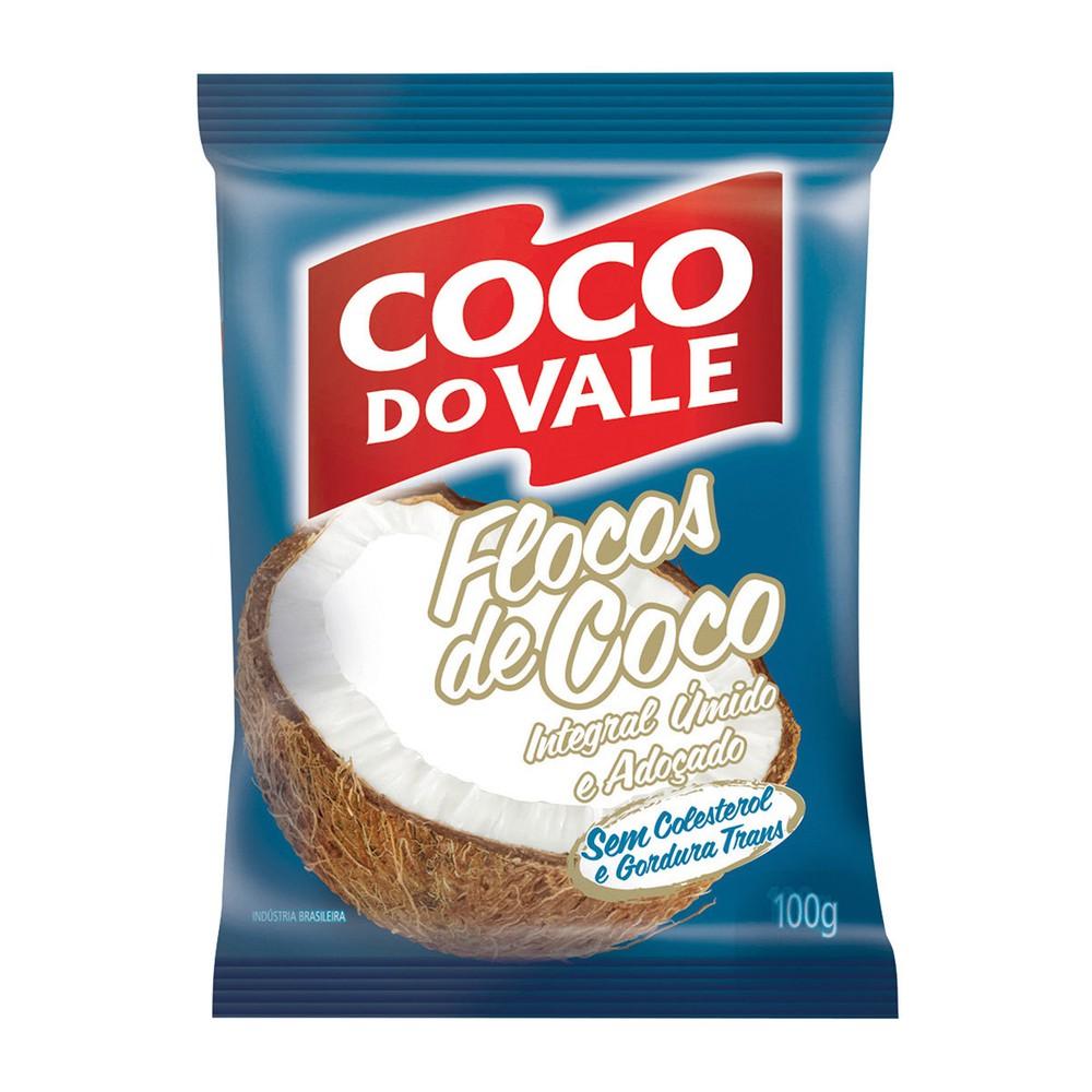 Coco em flocos úmido adoçado