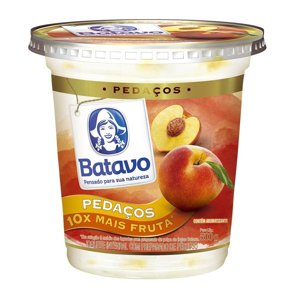 Iogurte integral pedaços pêssego