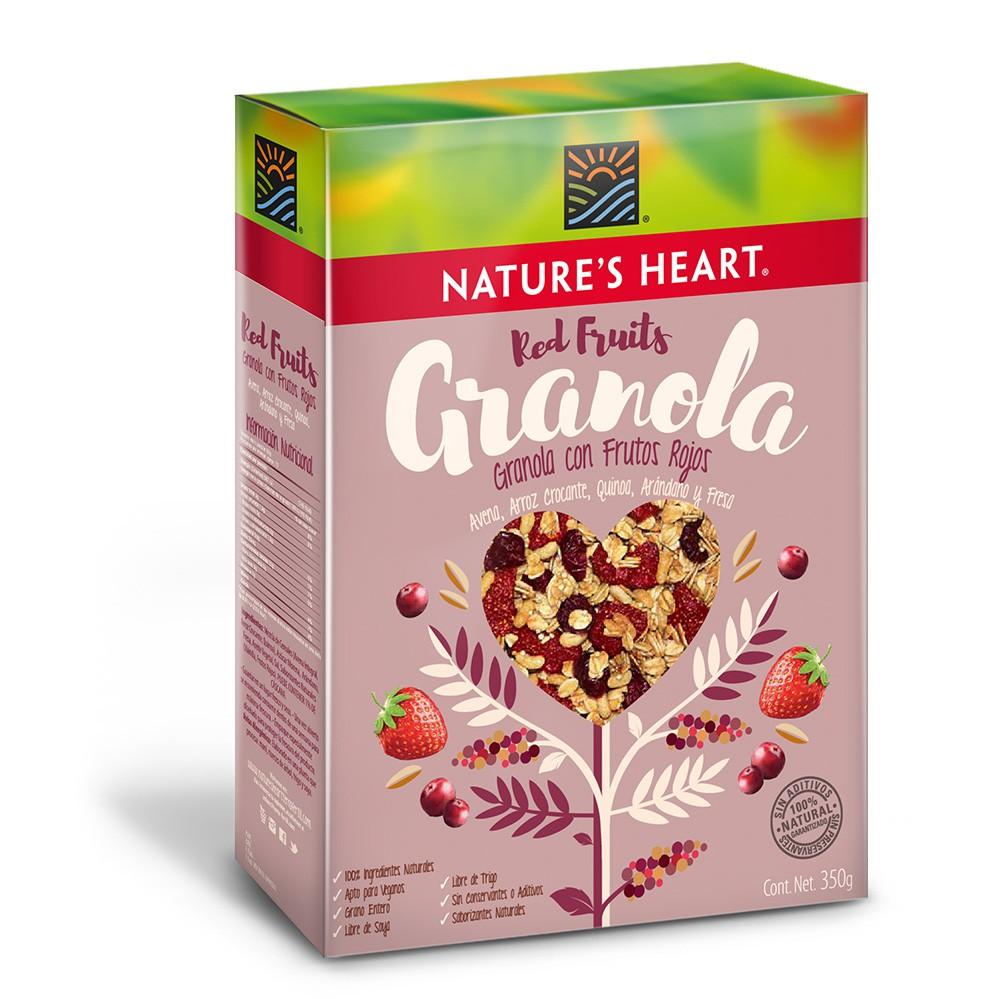 Granola frutos rojos y vainilla