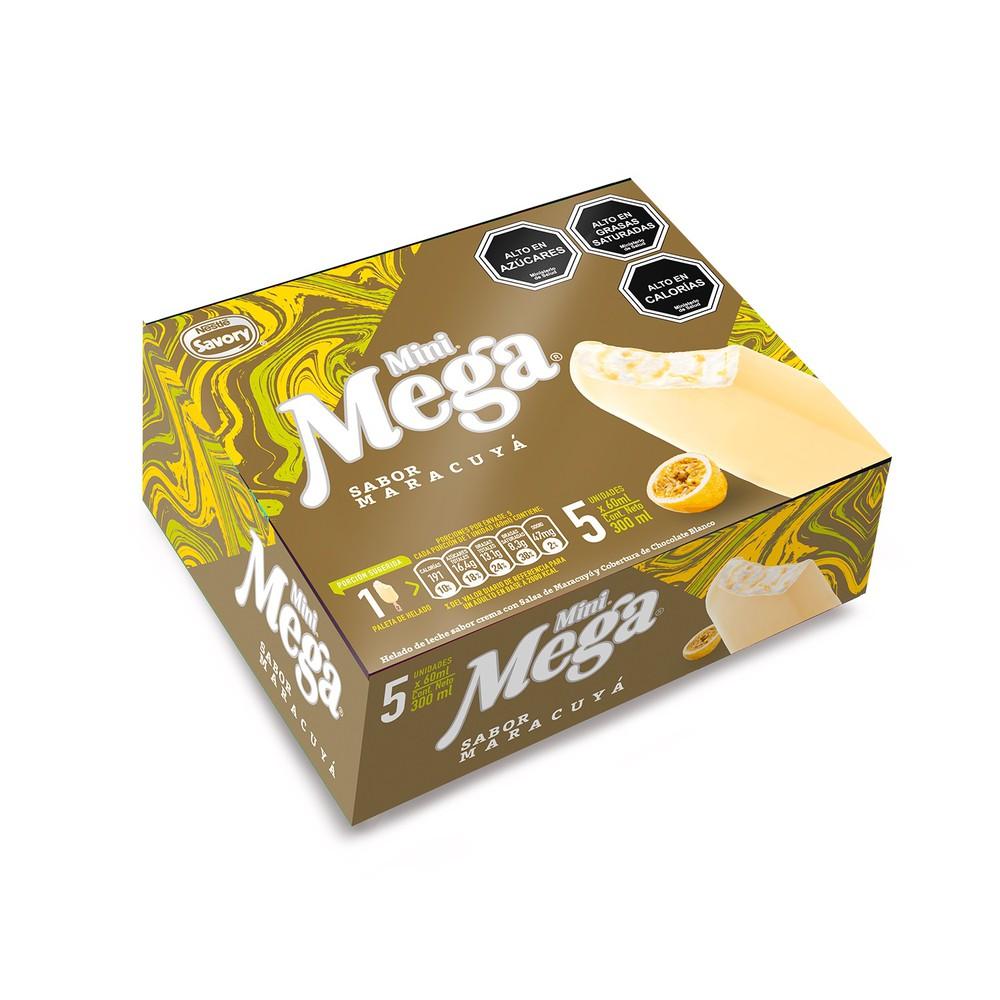 Paleta de helado Mega maracuyá y chocolate blanco