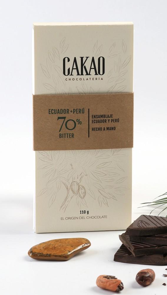 Barra bitter 70% Ecuador - Perú Barra 110 g