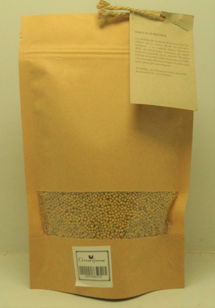 Semilla mostaza (STOCK 3 UNIDADES) Envase 200 gr.