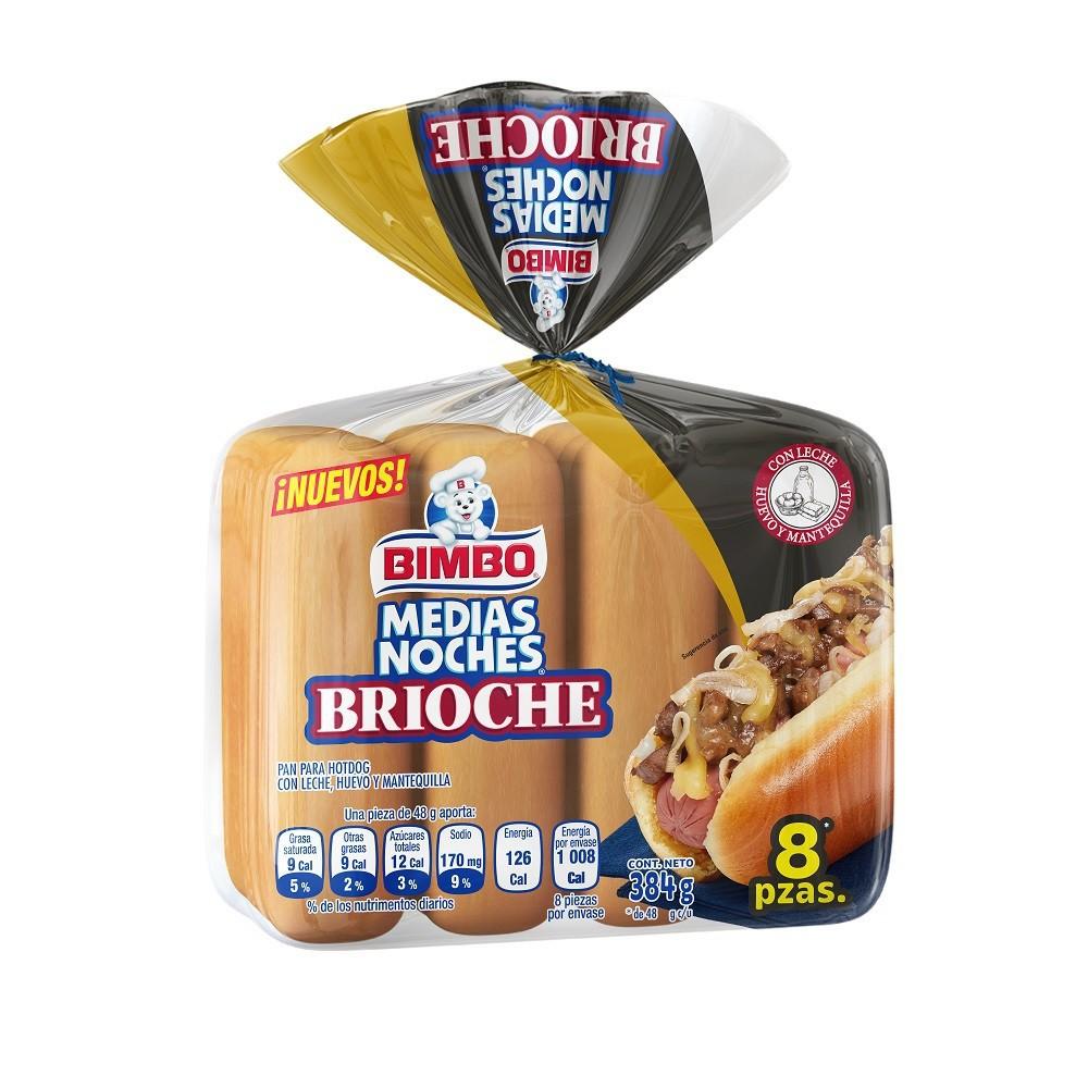 Pan medias noches brioche