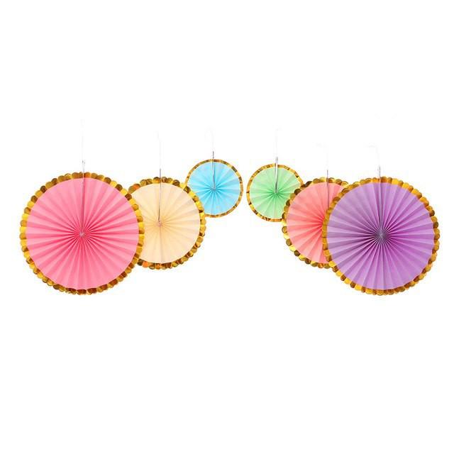 Set de abanicos de colores