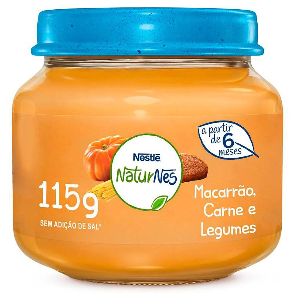 Alimento Infantil Macarrão, Carne e Legumes Pote