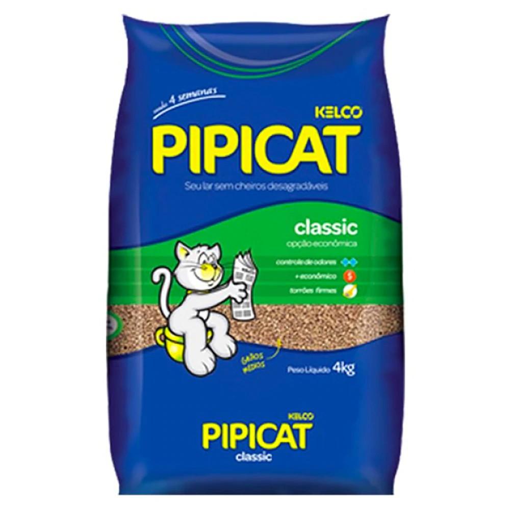 Areia higiênica classic Pipicat 4kg