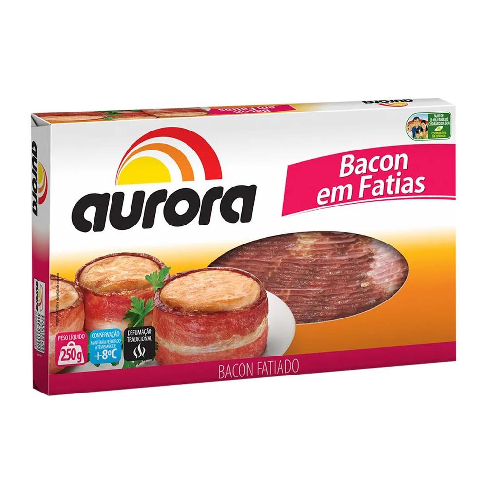 Bacon resfriado fatiado