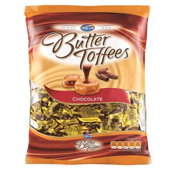Bala de caramelo sabor chocolate Butter Toffees