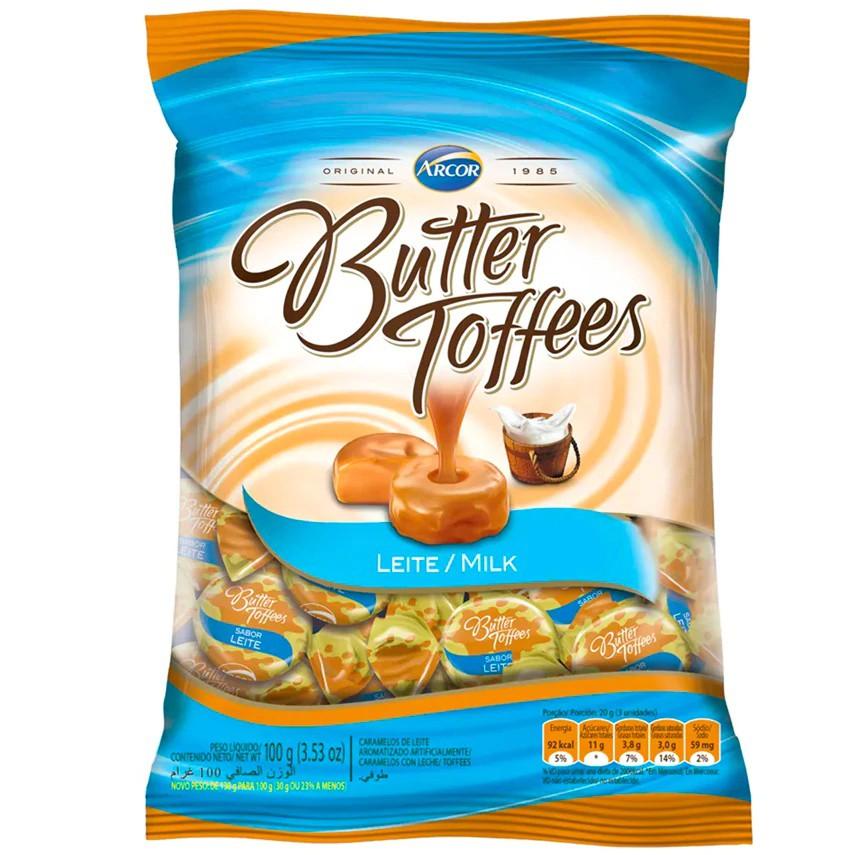 Bala de caramelo sabor leite Butter Toffees