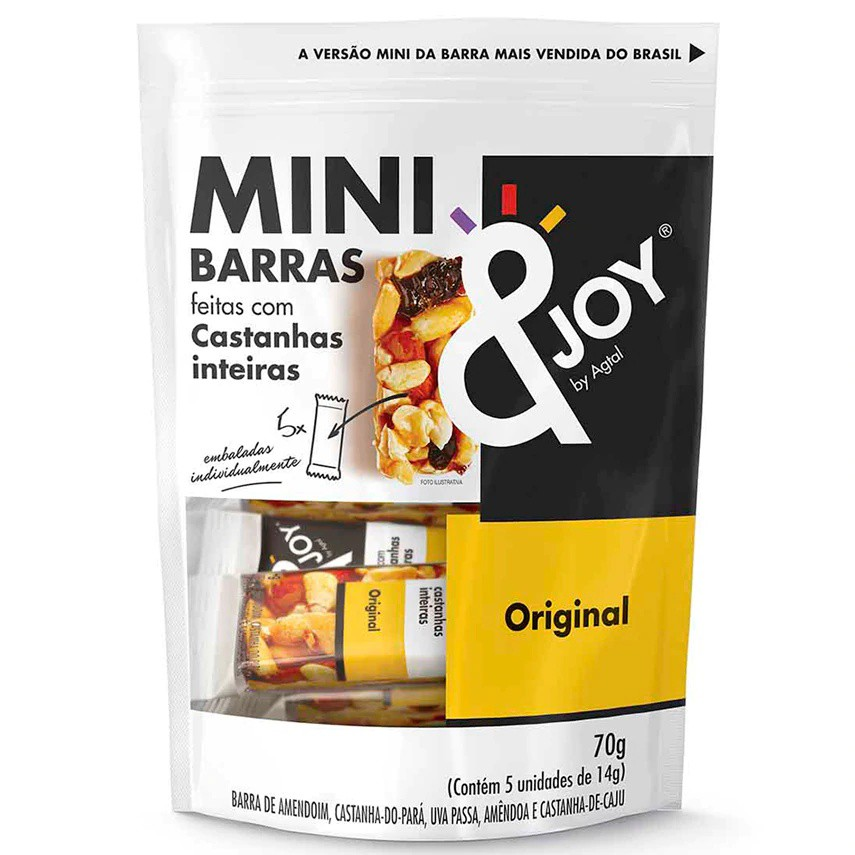 Barra de Cereal Mini Original &Joy
