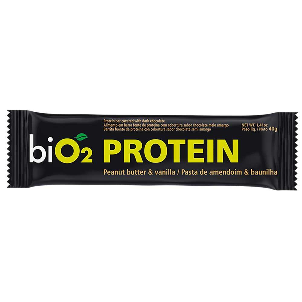Barra de proteína baunilha e amendoim