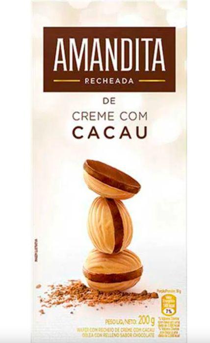 Wafer recheado sabor chocolate
