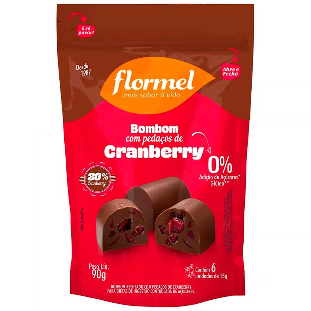 Bombom recheado zero cranberry