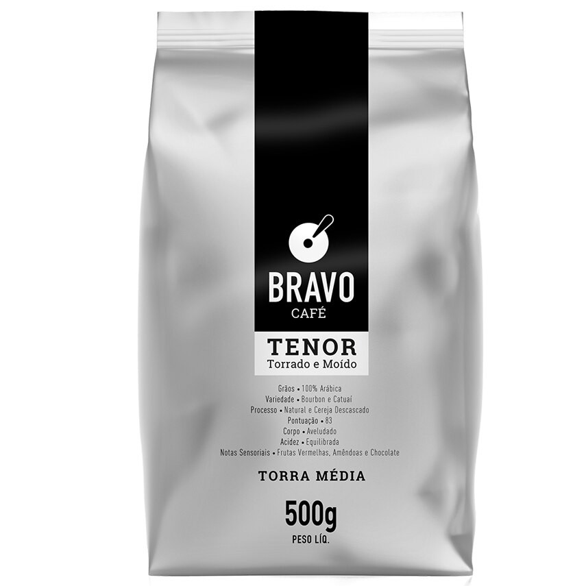 Café tenor torrado e moído almofada
