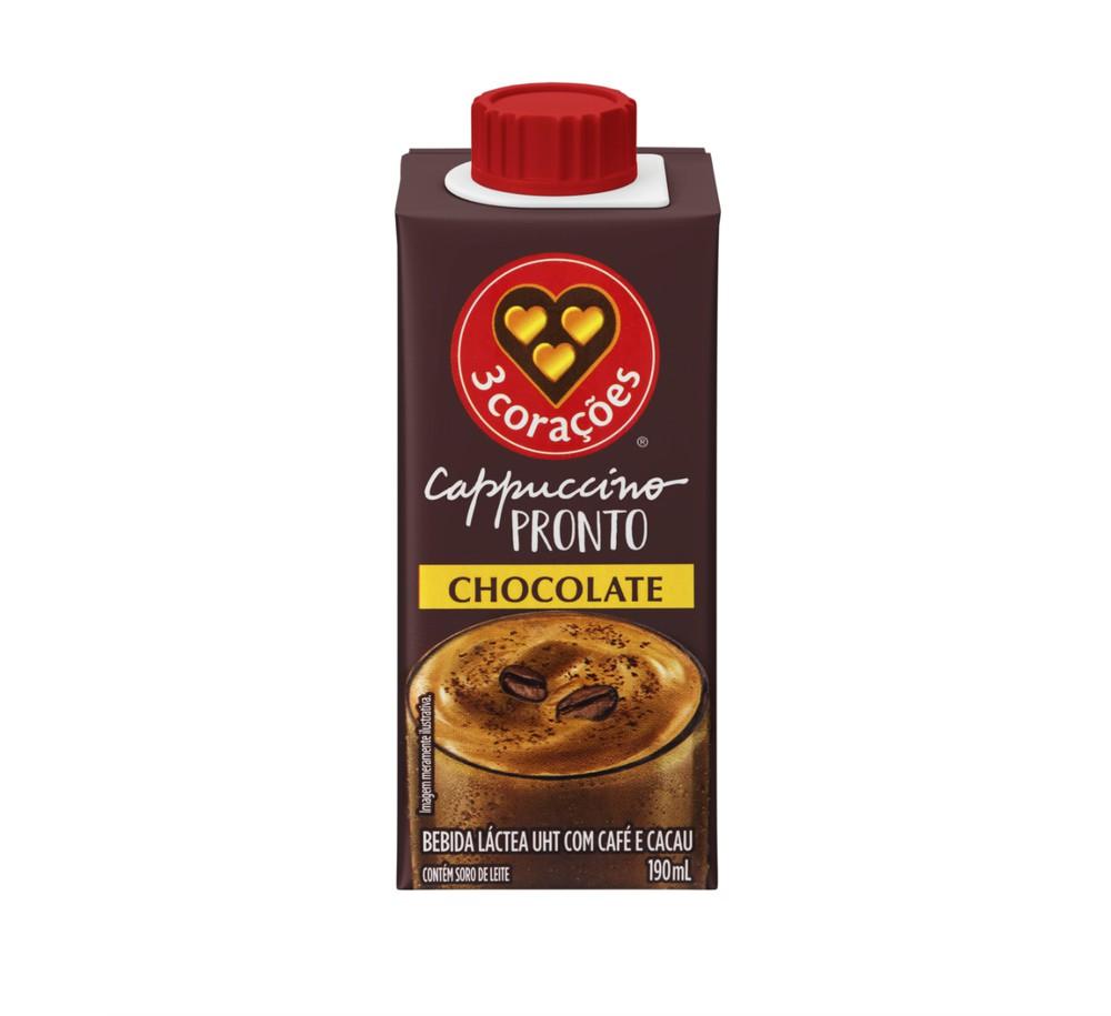 Bebida láctea Cappuccino pronto chocolate