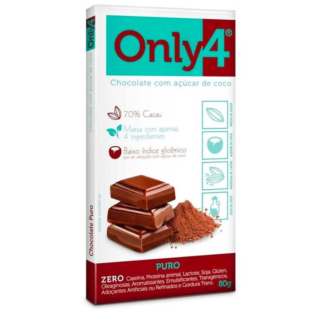 Chocolate cacau puro 70% 80g