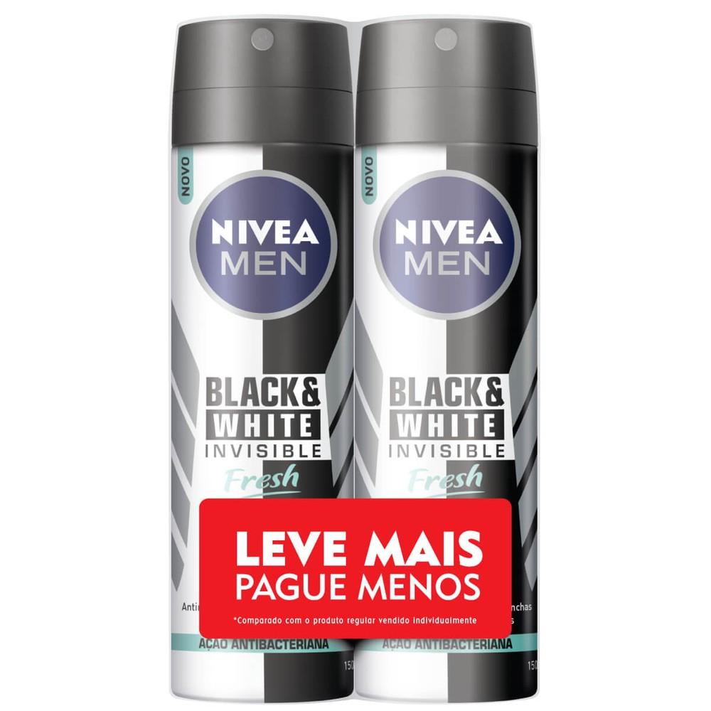 Desodorante aerosol black & white fresh men