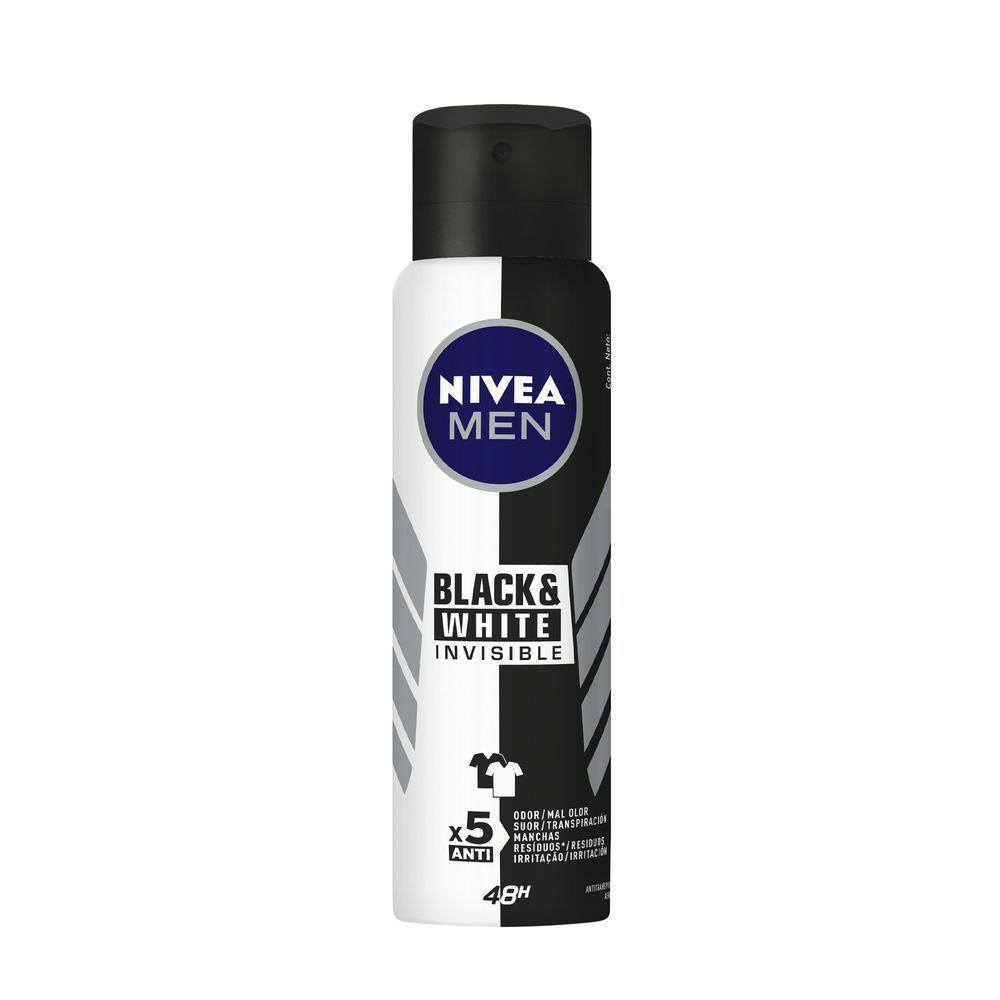 Desodorante aerosol invisible black e white