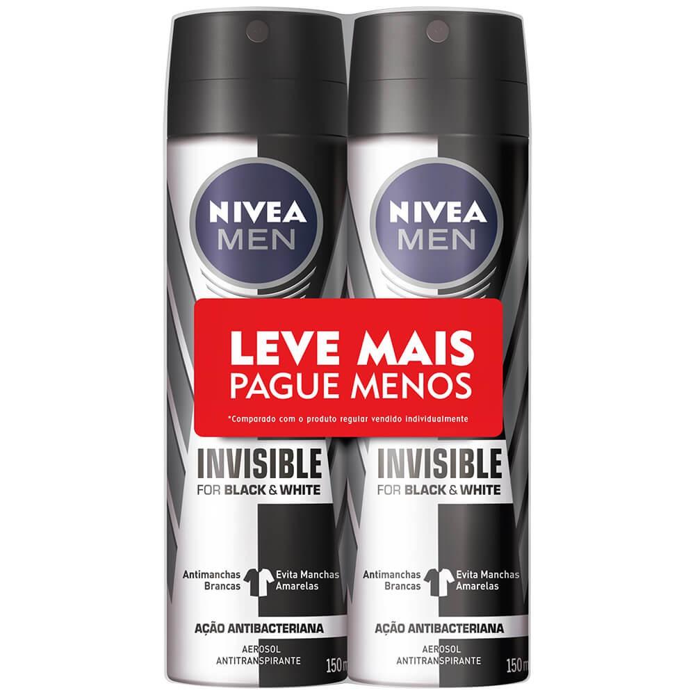 Desodorante aerosol black & white men