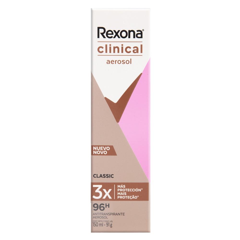Desodorante aerosol feminino Clinical classic