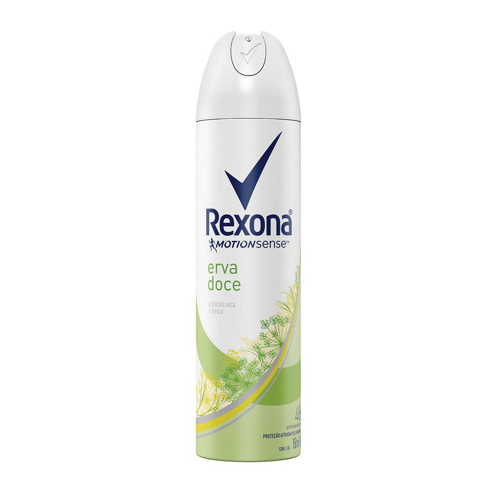 Desodorante aerosol feminino erva doce 150ml