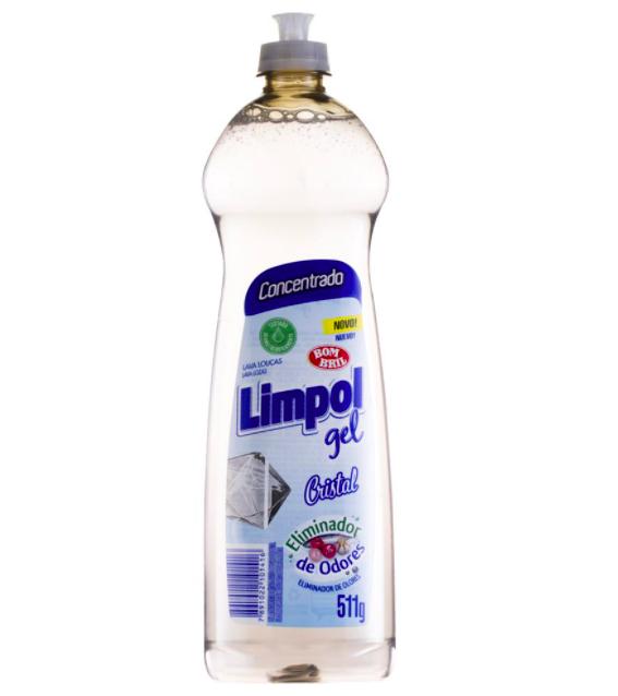 Detergente em gel cristal Limpol