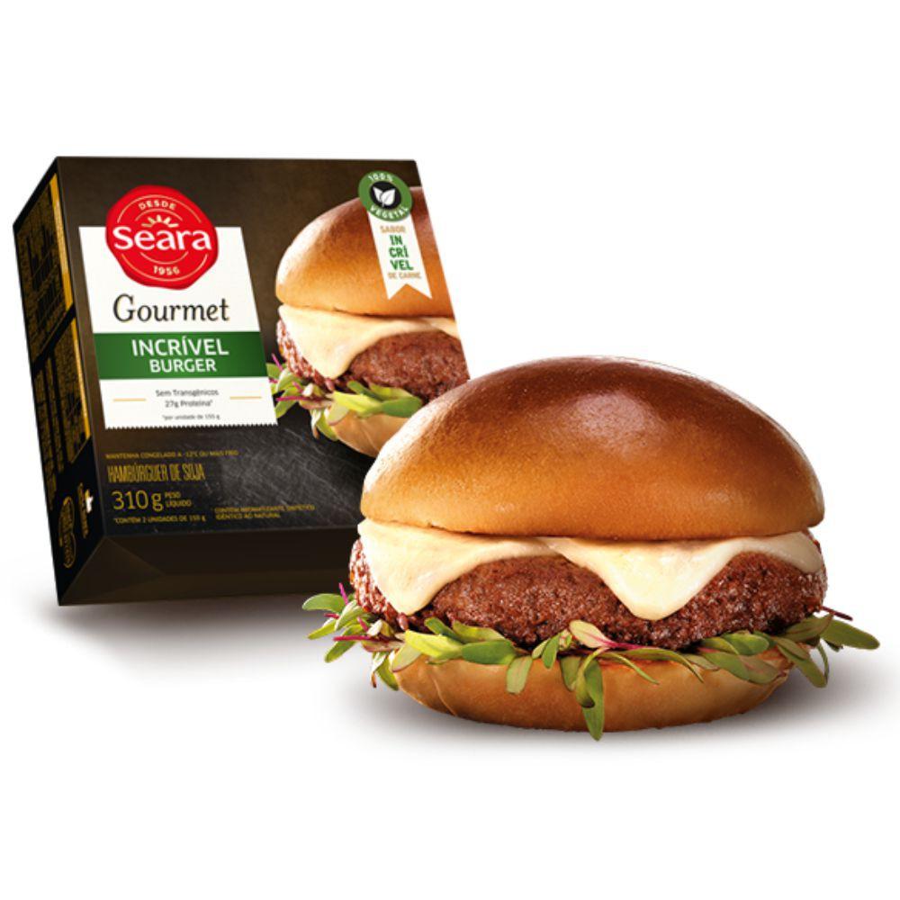 Hambúrguer gourmet de soja