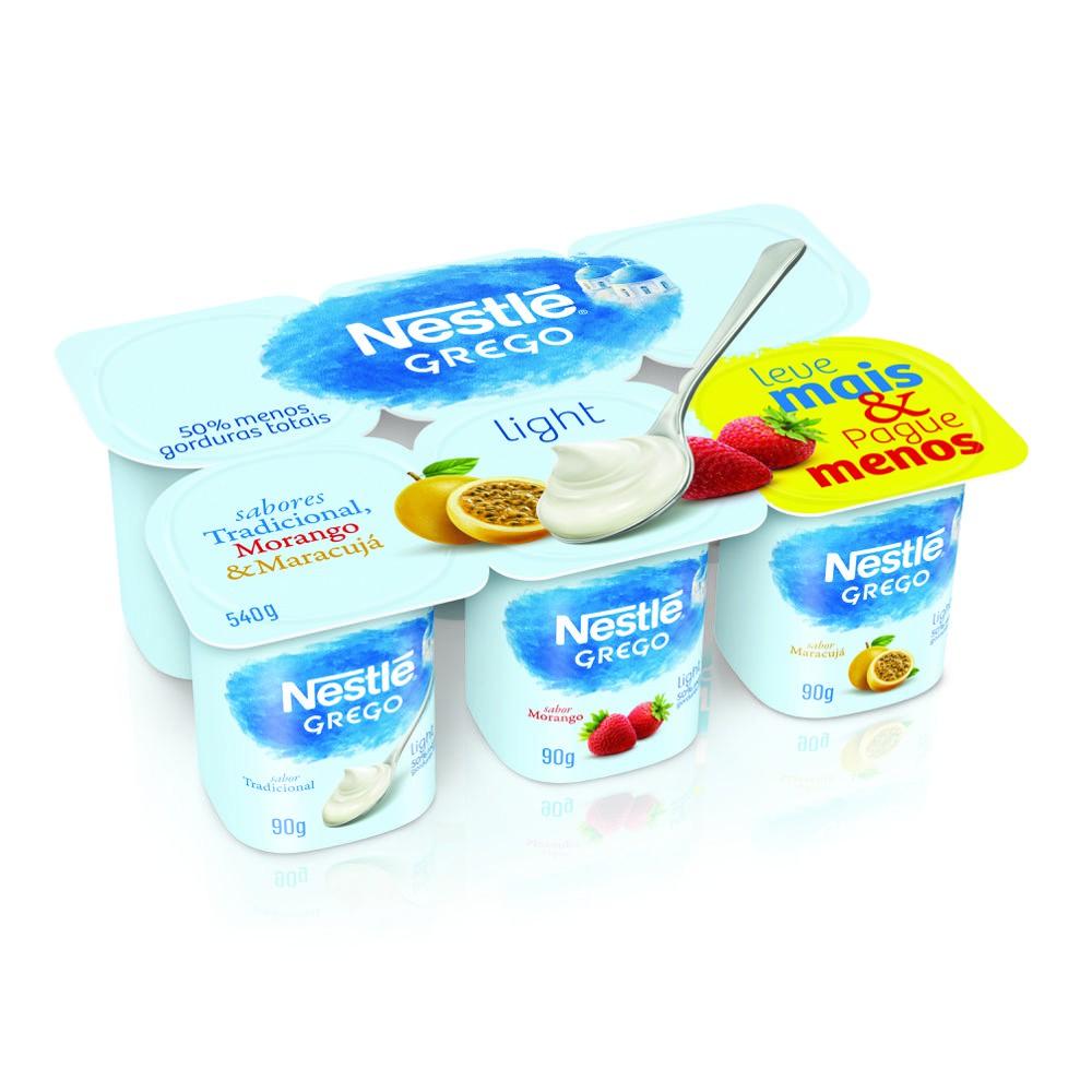 Iogurte grego light 3 sabores