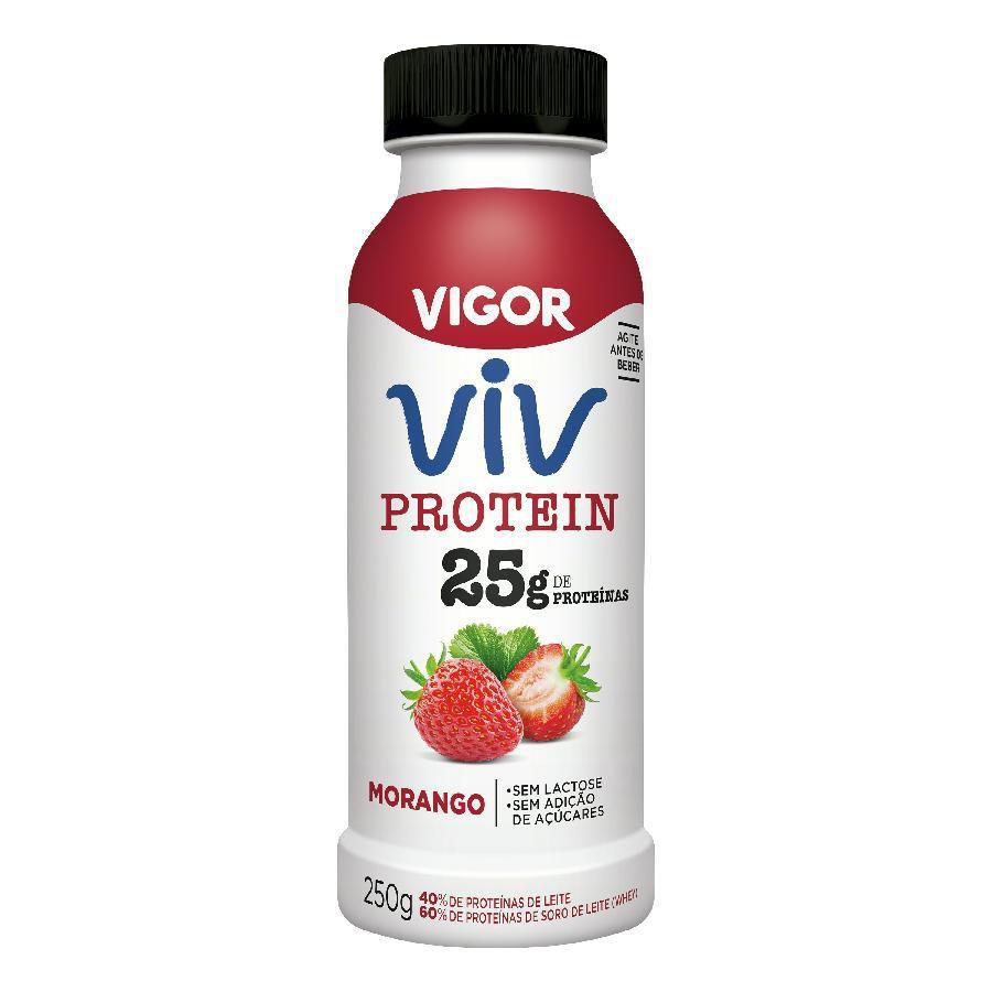 Iogurte líquido protein morango Viv