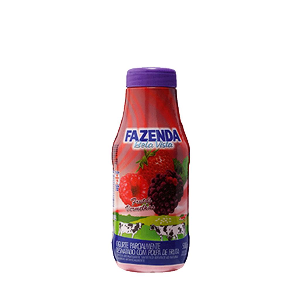 Iogurte sabor frutas vermelhas