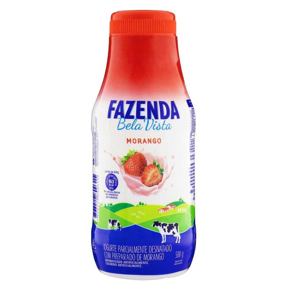 Iogurte semidesnatado morango com polpa